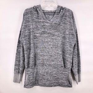 Like New Athlete grey knit hooded top